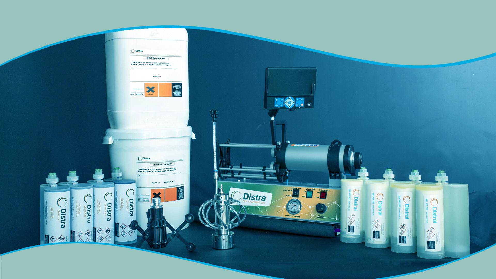reparación tuberías Barcelona inyección resina epoxy
